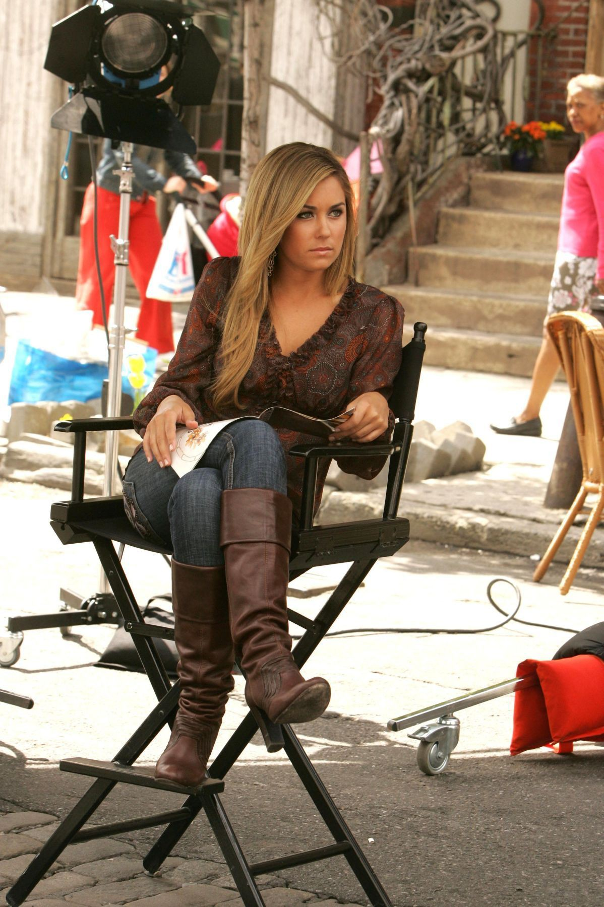 Lauren conrad in boots thigh high boots, knee high boot