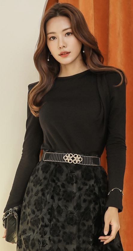 black colour dress with dress, outfit ideas, fashion model
