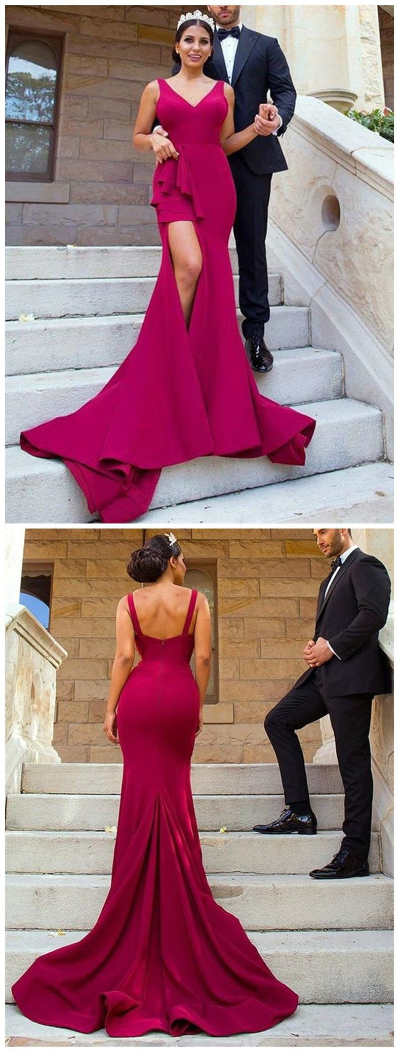 Magenta and purple fashion collection with bridesmaid dress, cocktail dress, wedding dress, form ...