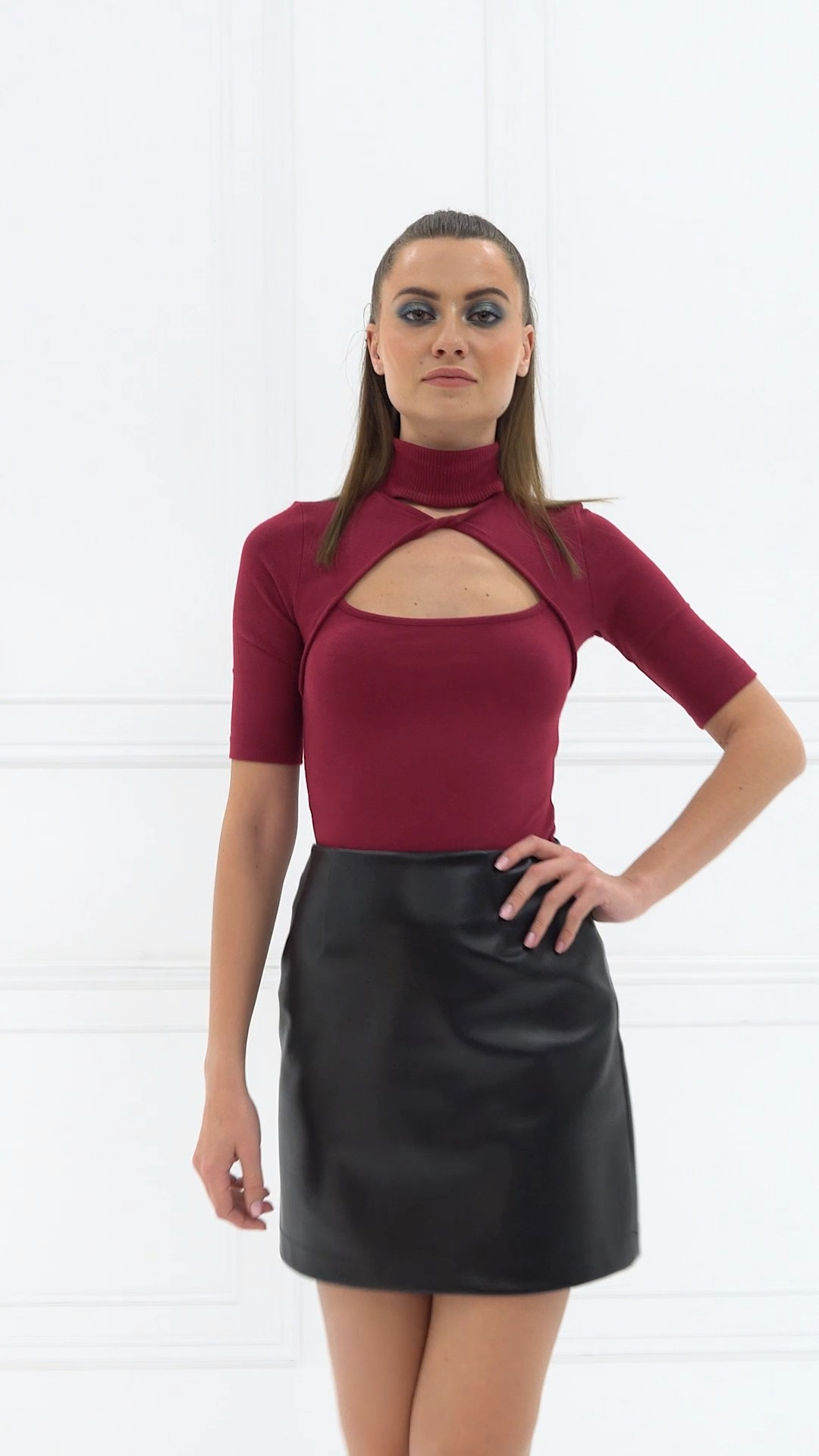 Magenta and maroon colour outfit ideas 2020 with cocktail dress, miniskirt