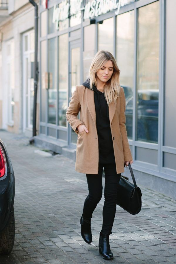 Brown colour outfit with trench coat, overcoat, blazer