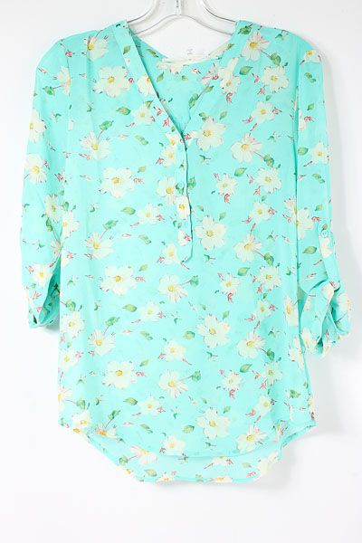Turquoise and blue colour ideas with blouse, shirt, top