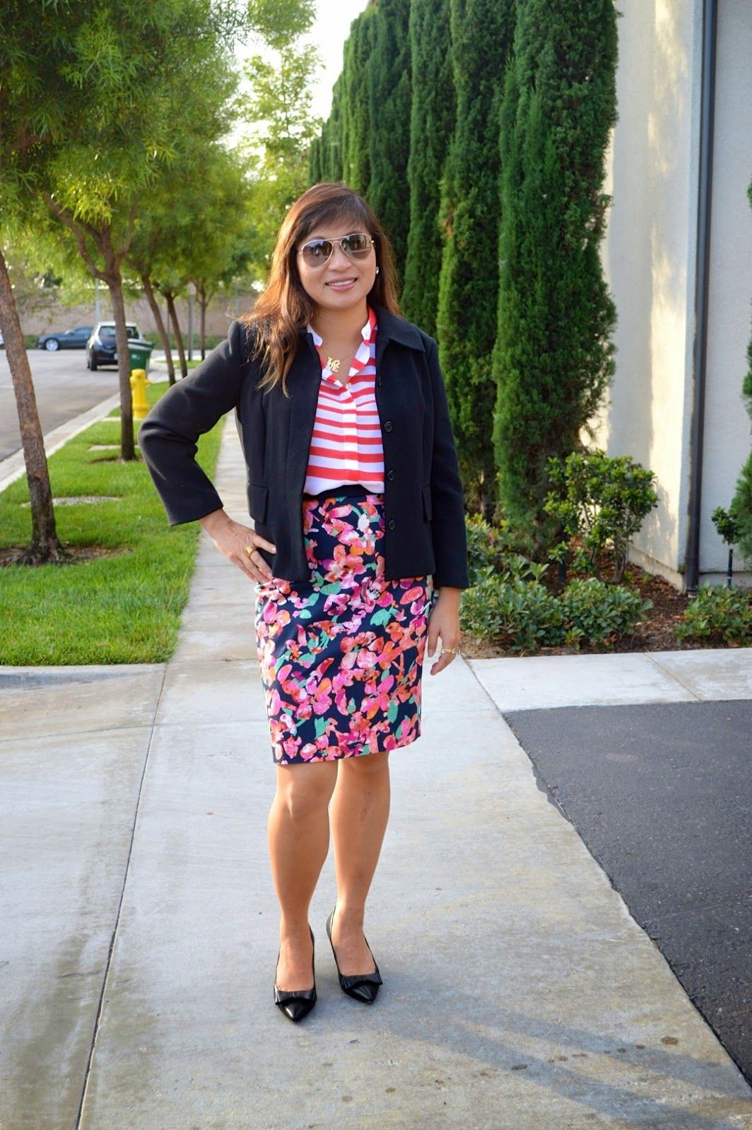Pink colour outfit ideas 2020 with polka dot, shorts, jacket