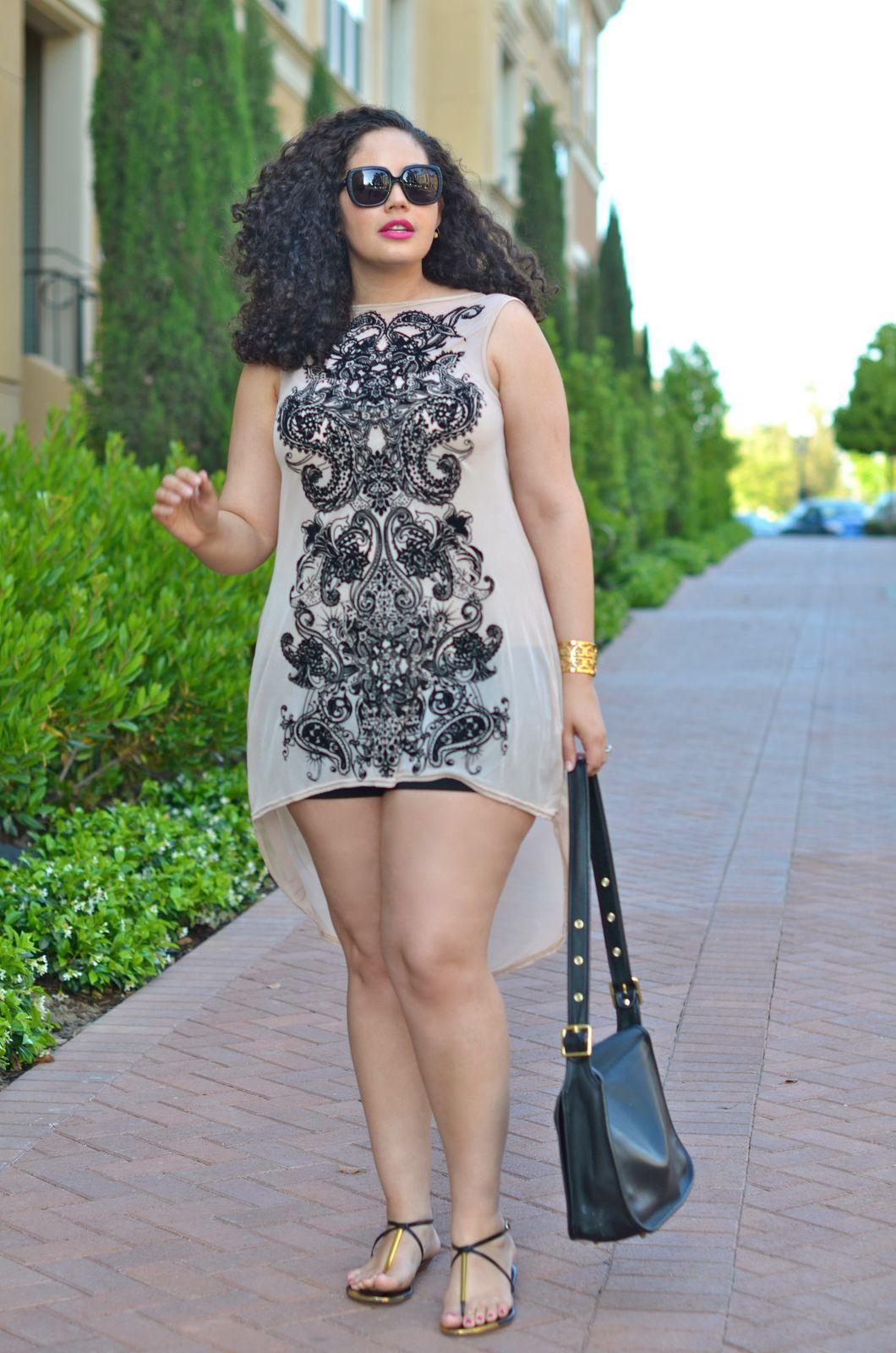 Outfit con short para gorditas