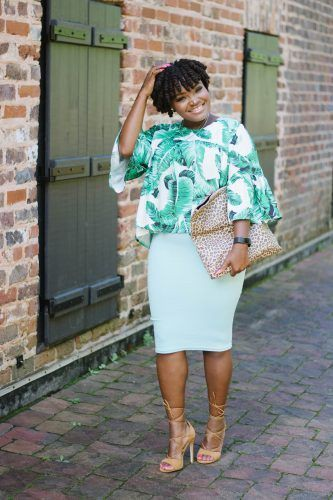 Turquoise and green colour outfit, you must try with pencil skirt, skirt