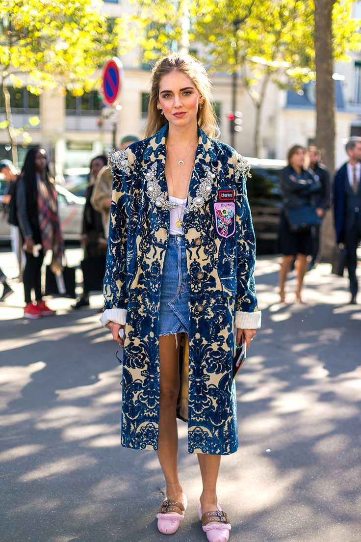 Electric blue and cobalt blue jacket, coat, fashion photography