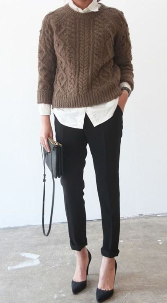 Women winter office outfit