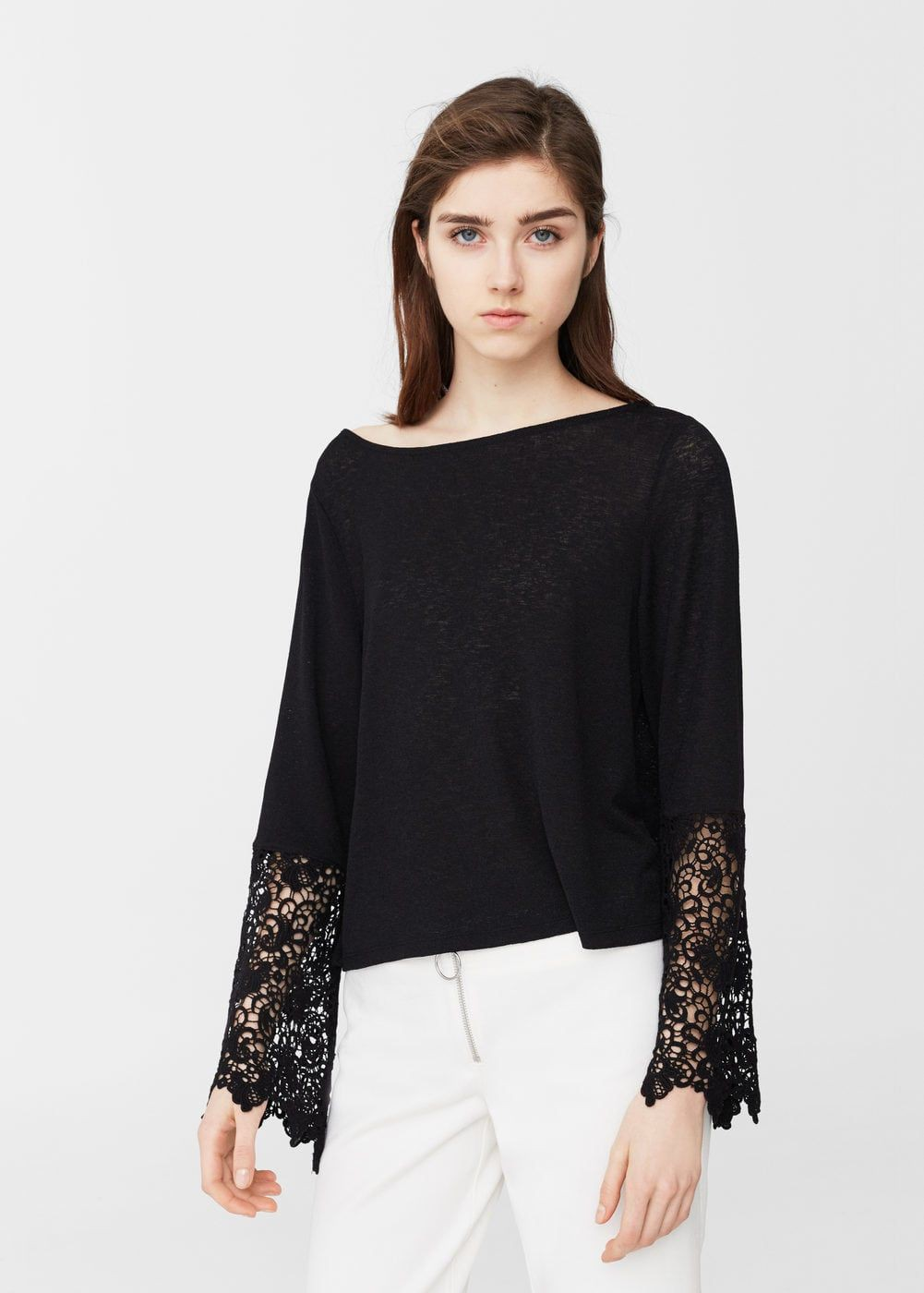 Black colour dress with blouse, shirt, top