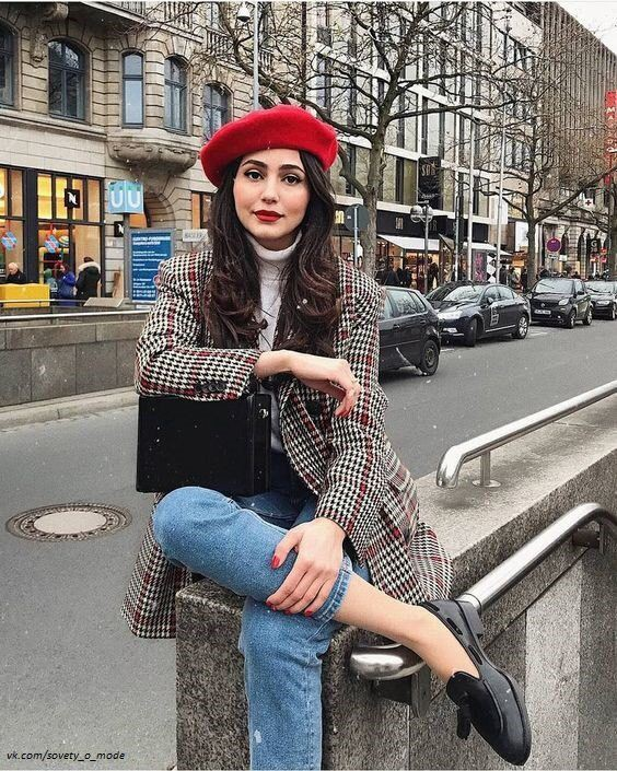 Style outfit red beret style, fashion accessory, street fashion, red beret