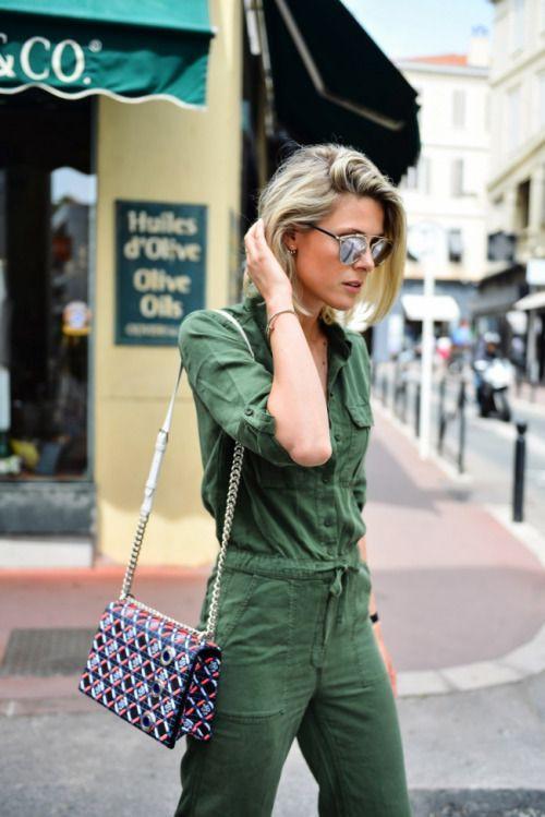 Green fashion nova dress with trousers, uniform, denim