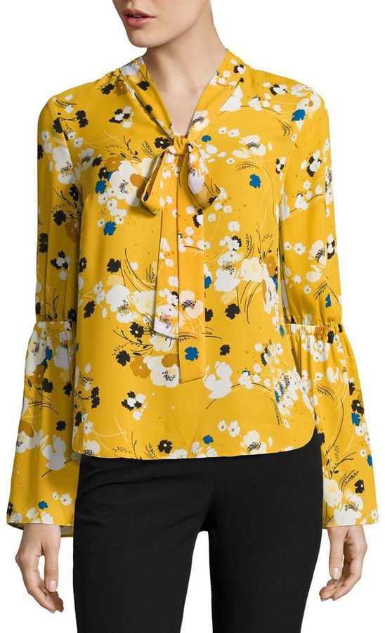 Yellow colour outfit ideas 2020 with blouse, shirt, top