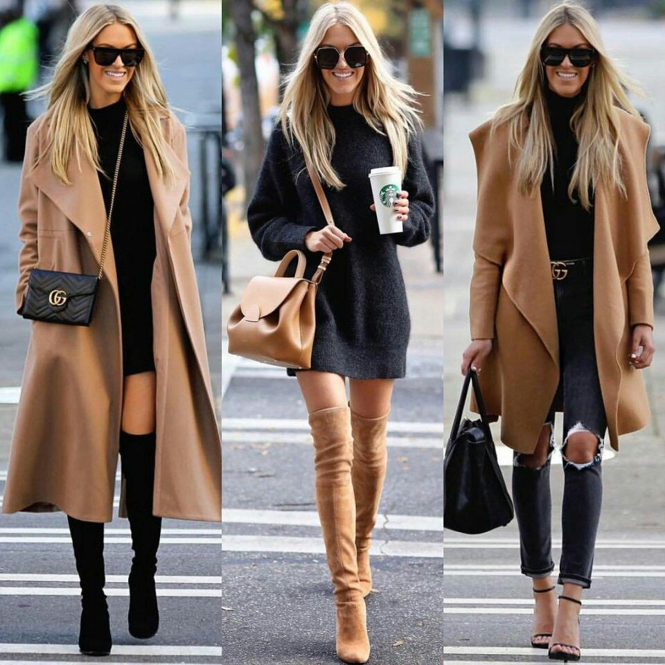 Winter looks for womens, winter clothing, street fashion, fur clothing, casual wear