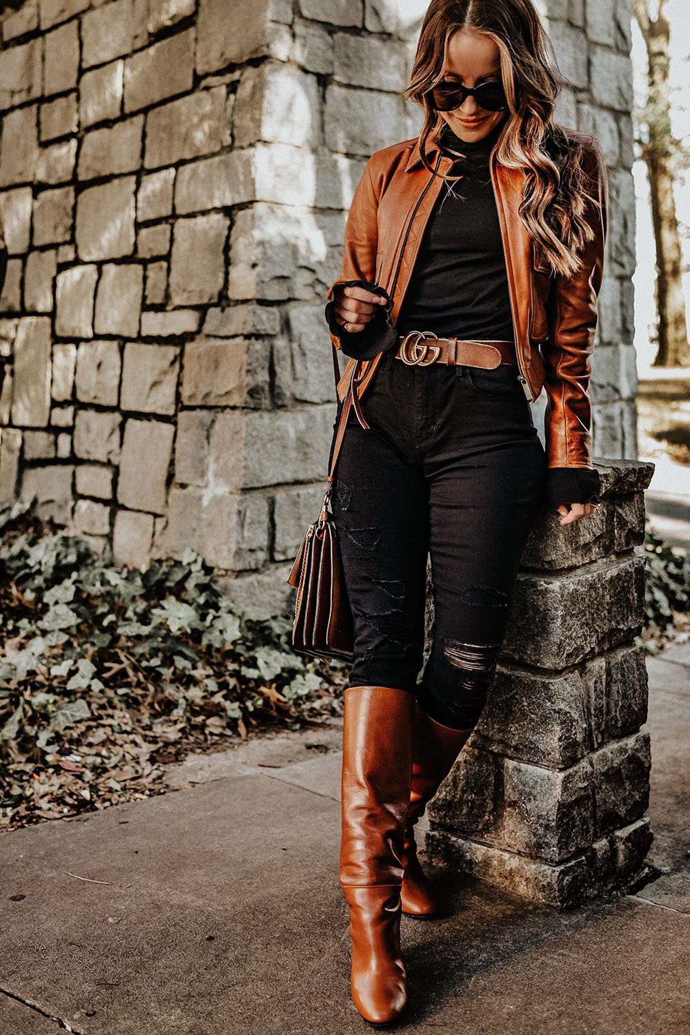 Brown colour outfit ideas 2020 with leather jacket, leather, blazer
