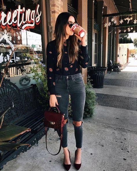 Semi casual outfit ideas, street fashion, casual wear, high rise