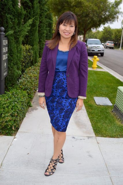 Electric blue and cobalt blue cute outfit ideas with formal wear, blazer, jeans