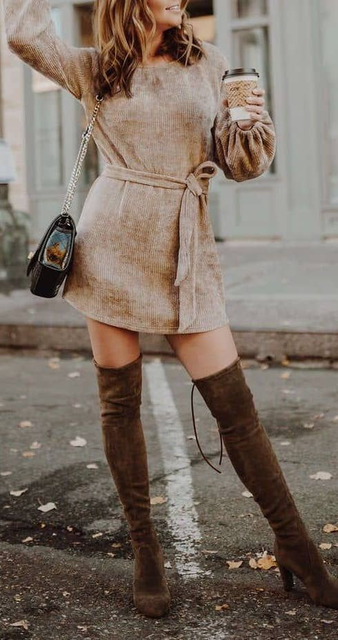 Brown outfit Pinterest with dress shoe, boot