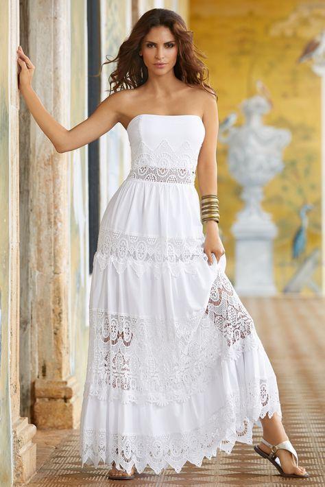 Classy outfit vestidos blancos largos bridal party dress, strapless dress