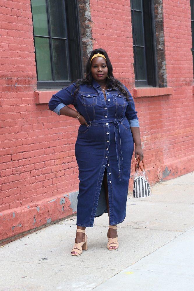 Plus size denim dress plus size clothing, fashion to figure