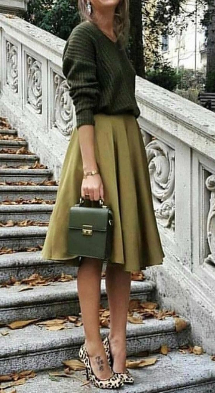 Winter outfit light green