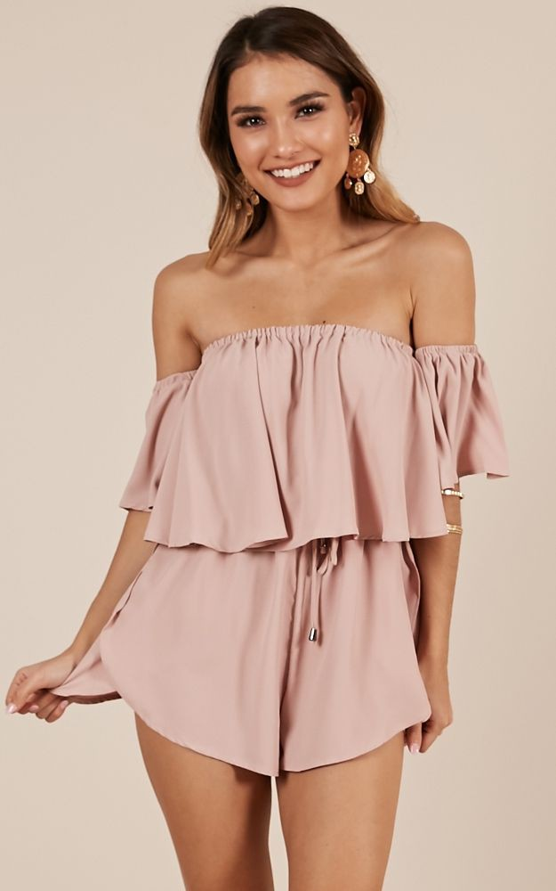 Beneath the lights playsuit in blush