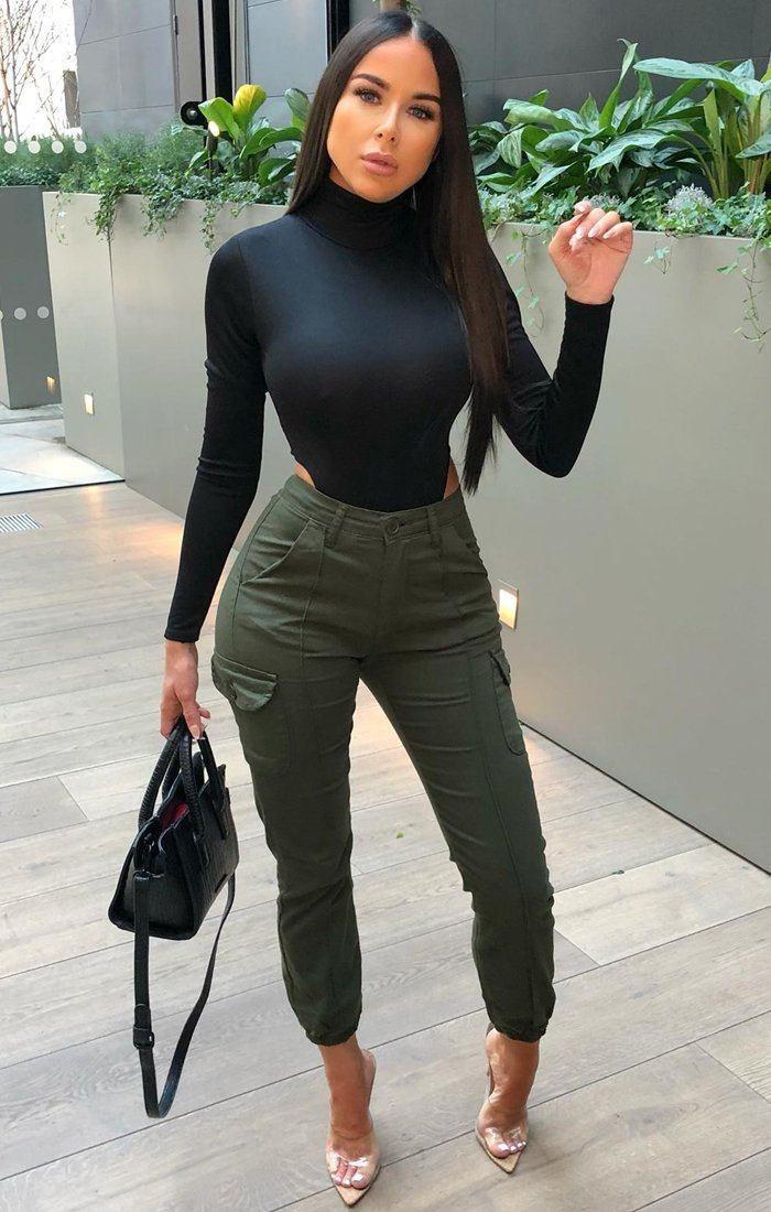 Long sleeve black bodysuit, T-shirt