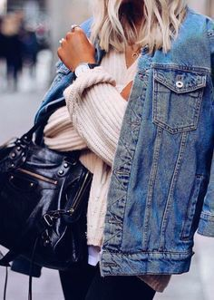 Clothing ideas with jean jacket, jacket, jeans
