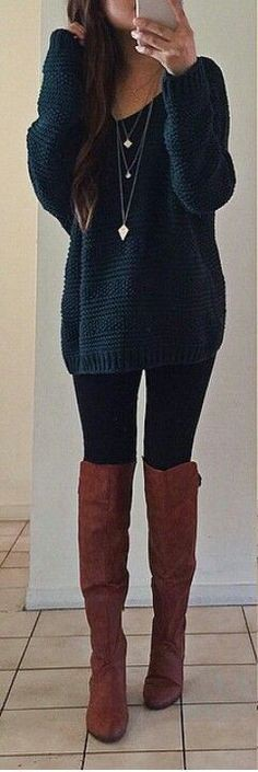 Outfit instagram fall boot outfits thigh high boots, knee high boot