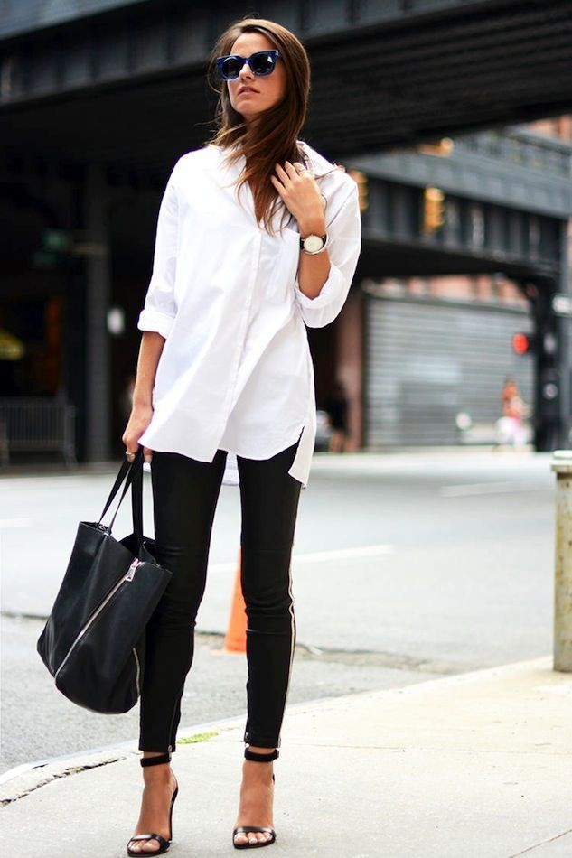 Colour ideas white shirt outfit slim fit pants, business casual