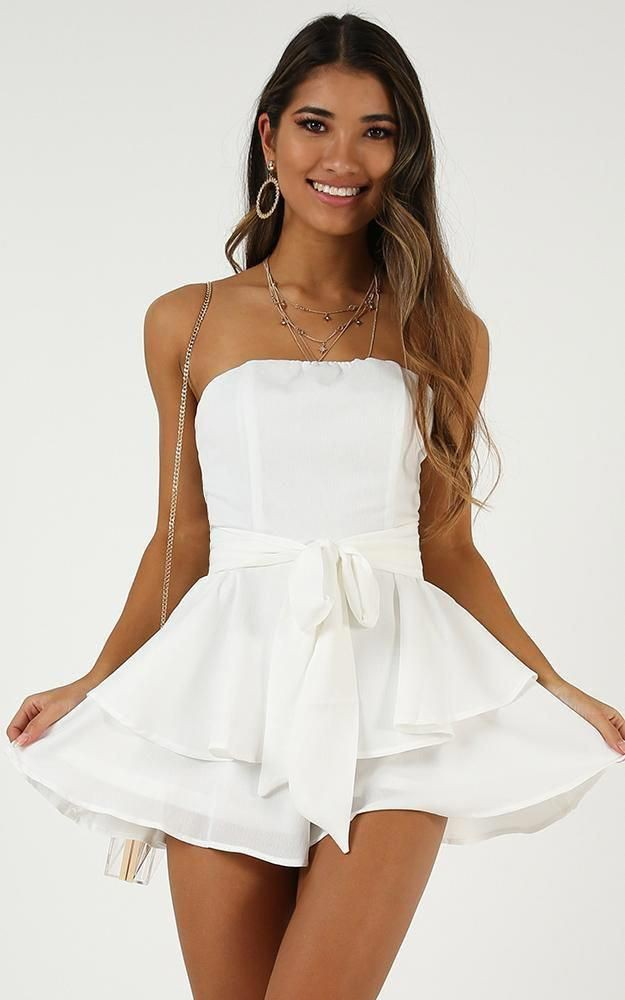 White attire with strapless dress, cocktail dress, party dress