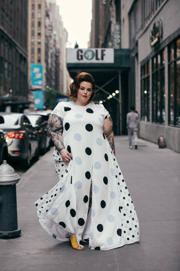 Tess holliday street style plus size model, black and white