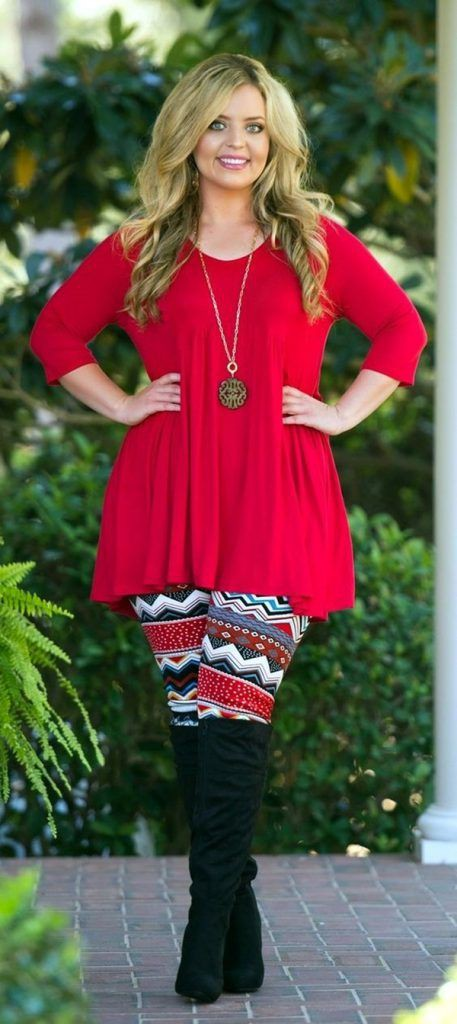 Plus size winter tunic fashion