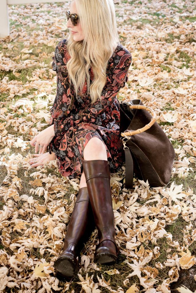 Brown colour outfit ideas 2020 with tights