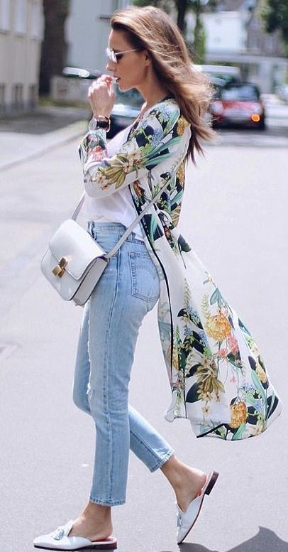 white colour combination with trench coat, jeans, coat