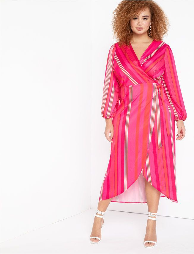 Magenta and pink outfit Stylevore with wrap dress, nightwear, day dress, skirt