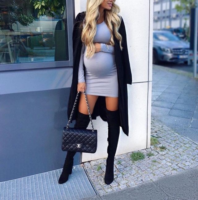 Black outfit instagram with party dress