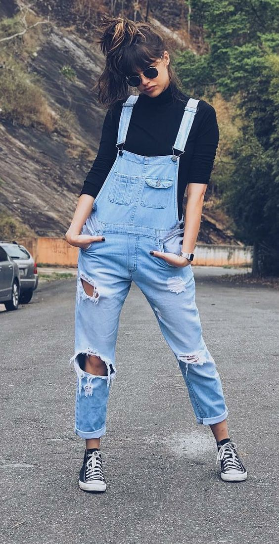 Colour outfit, you must try overall outfit ideas, street fashion, casual wear, jean short, t shirt