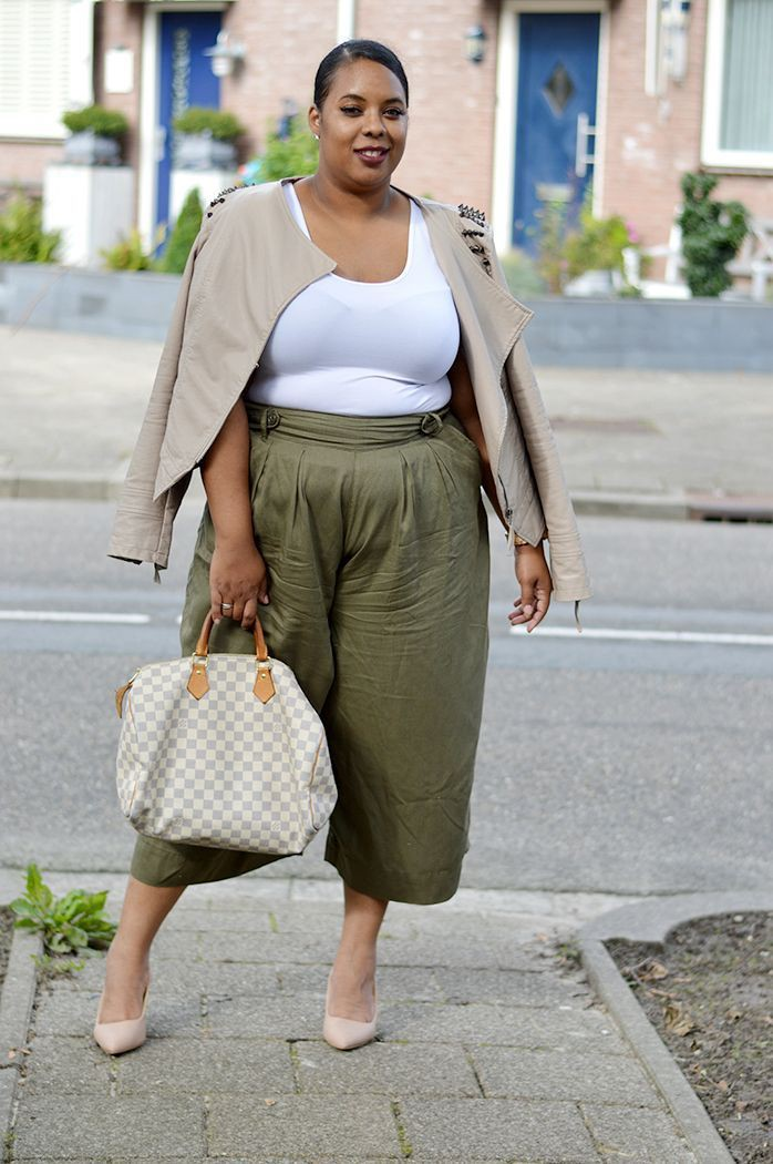 Brown and white clothing ideas with pencil skirt, trousers, crop top
