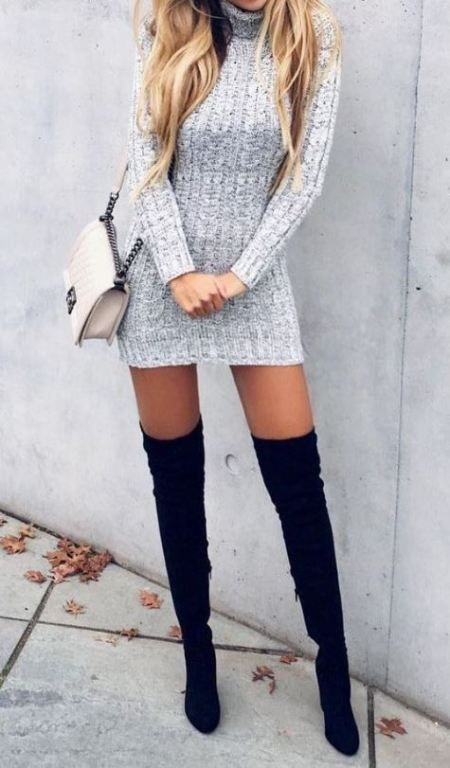 Outfit ideas edgy hot outfits high heeled shoe, thigh high boots, knee high boot