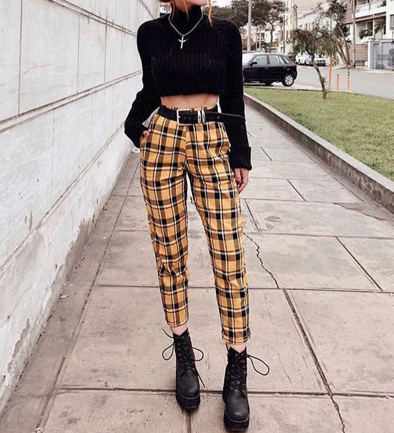 Nemo Smith tartan matching outfit, wardrobe ideas, street fashion
