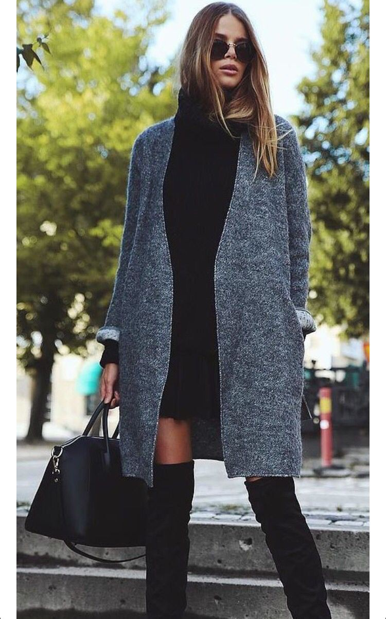 Outfit Pinterest grunge work outfit knee high boot, grunge fashion