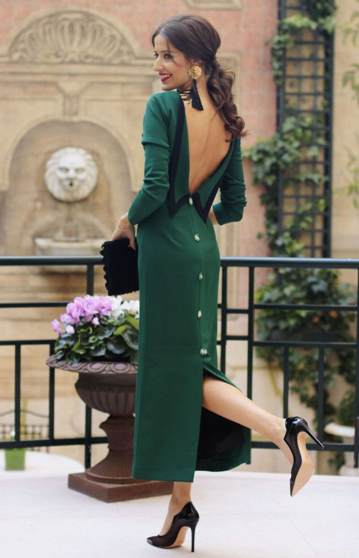 Green outfit ideas with little black dress, party dress, dress