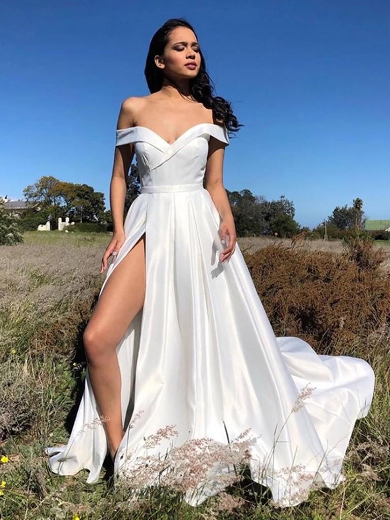 White lookbook fashion with bridal party dress, bridesmaid dress, bridal clothing