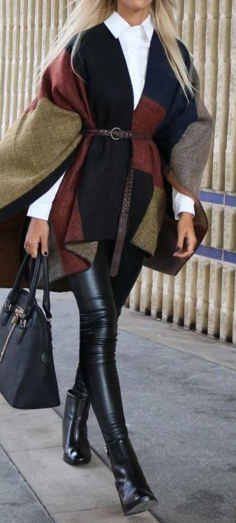 Brown colour outfit, you must try with sweater, leather, tights