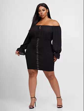 Fashion collection little black dress plus size clothing, little black dress, fashion to figure