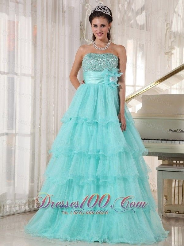 Turquoise and aqua outfit instagram with bridal party dress, strapless dress, evening gown, ball ...