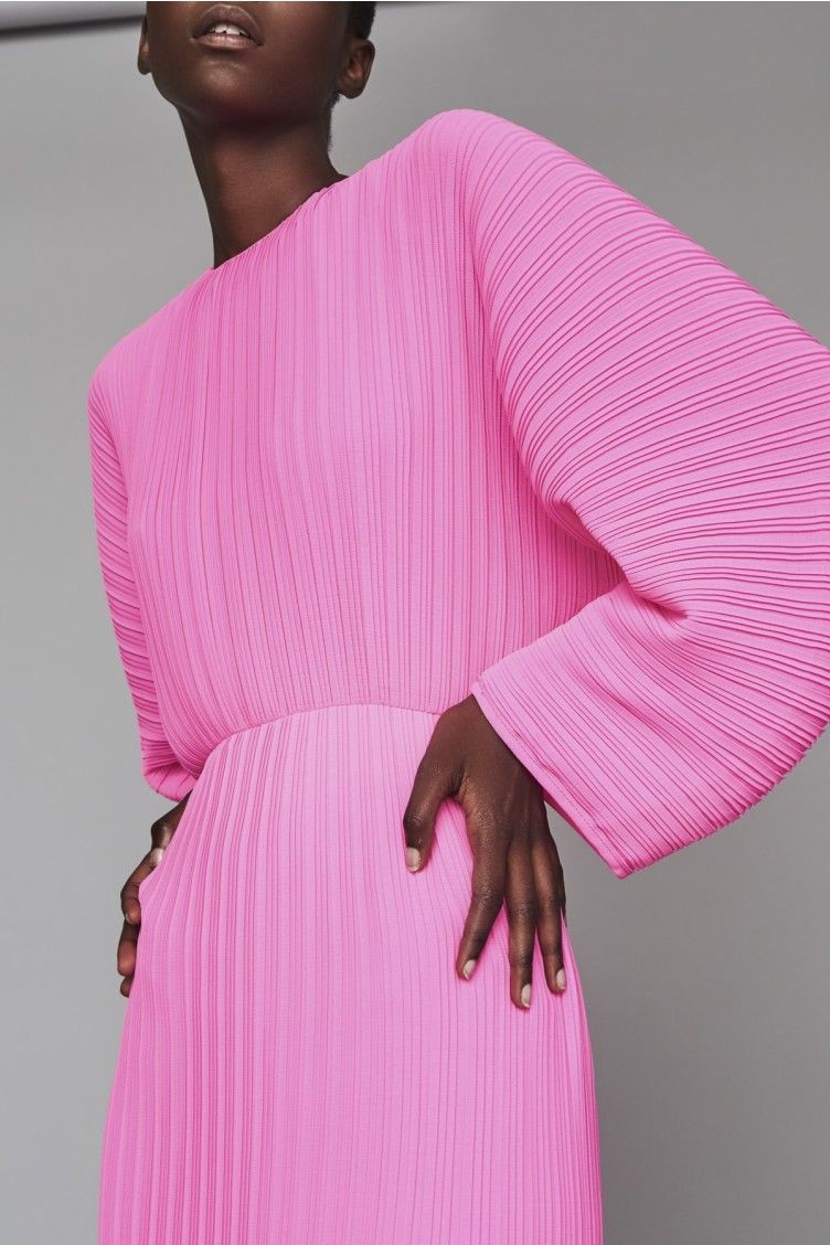 Magenta and pink outfit ideas with dress, solace london mirabelle dress, solace london