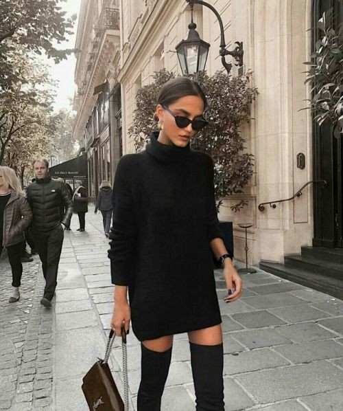 Women_with_style instagram knee high boot, street fashion