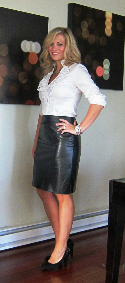 Hot women in leather skirts