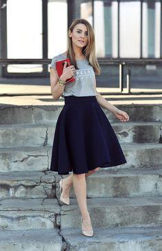 Look com saia gode bodyflirt spitzenrock schwarz, 32/34, street fashion