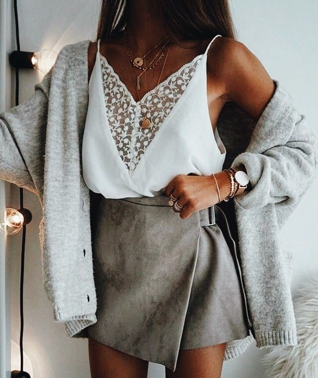 Beige and white colour ideas with fashion accessory, tube top, shirt